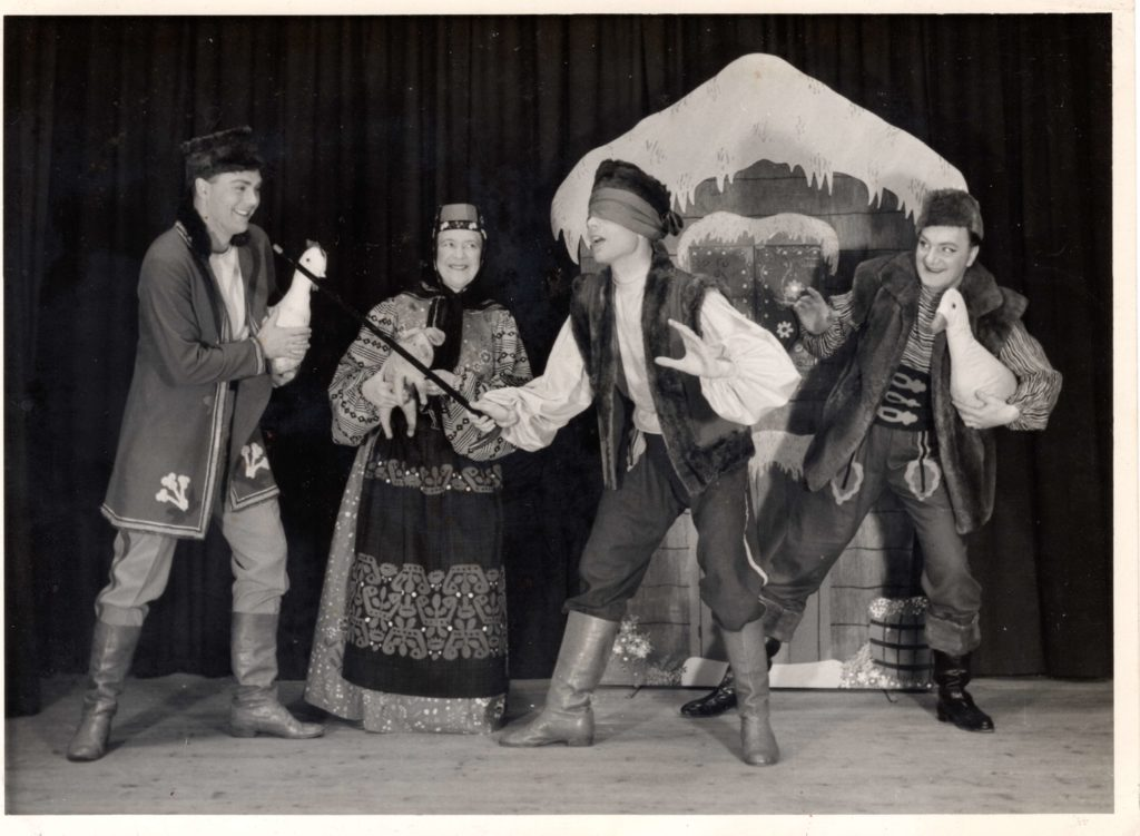Bertha Waddell, Anthony Newman and unknown others perform 'The Men from Krakow' in around 1964.